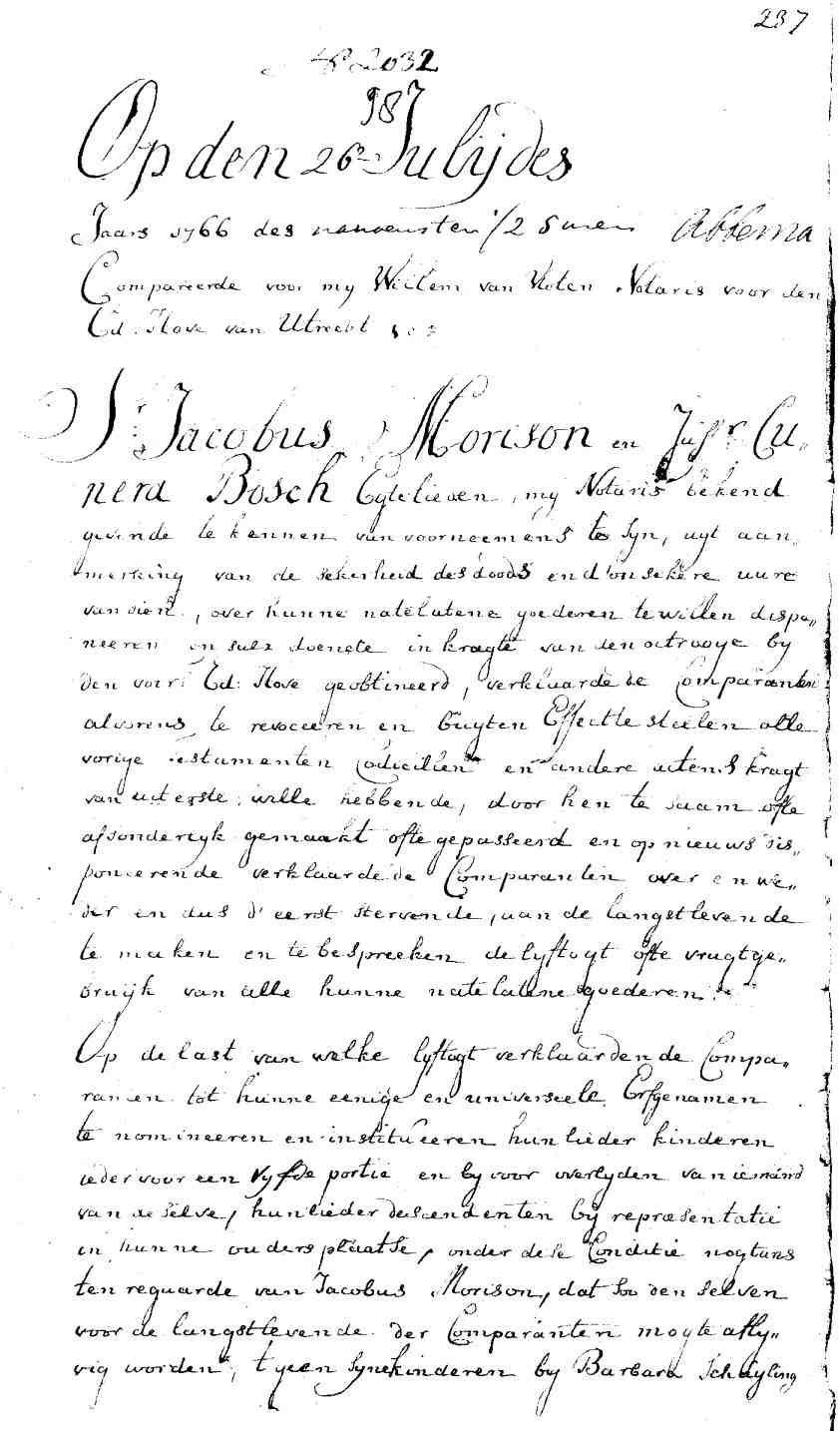 testament morison bosch 1766